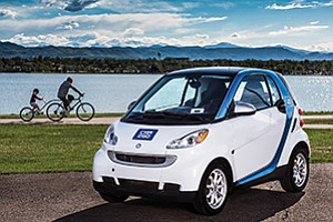 A lack of charging stations has prompted car-sharing company Car2Go to revert to gas-powered vehicles. Photo courtesy of Car2Go