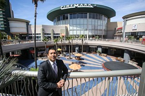 Selling New Experience: Austin Khan at Westchester's Promenade at the Howard Hughes Center, which is undergoing a $30 million upgrade without a big-box tenant.