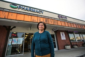 'Really Dangerous': May Chehade, owner of Playa Pharmacy in Playa del Rey, who says she can smell gas from SoCal Gas' aging wells facility nearby.