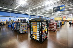 Carded: Green Dot products take a central display location at Walmart; the company relies heavily on its contract with the retailer and has recently revamped its offering.
