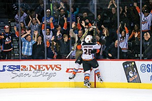 The San Diego Gulls closed their inaugural regular season with the second-best attendance in the American Hockey League, with more than 8,600 fans per game. 