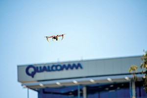 Qualcomm Inc. has been granted federal approval to fly drones outside its headquarters on Morehouse Drive. Photo courtesy of Qualcomm Inc.