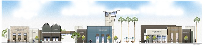Breakwater Town Center -- Rendering courtesy of Sudberry Properties