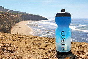 The FitPod water bottle allows users to neatly customize their workout powders. Photos courtesy of FitPod