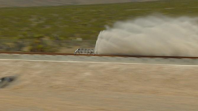 Hyperloop One testing its system in North Las Vegas.