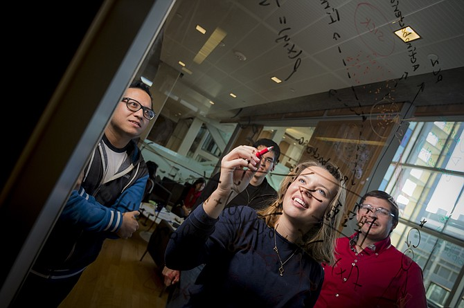 Graduate students in the UC San Diego Center for Microbiome Innovation work across disciplines to disrupt the food, energy and medical industries. Credit: Eric Jepsen/UC San Diego