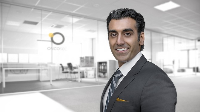 OncoSec Co-founder and CEO Punit Dhillon. Photo courtesy of OncoSec.