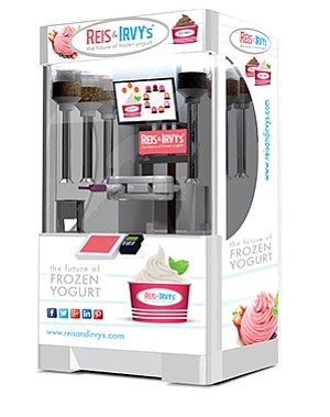 Fresh Healthy Vending International said it hopes to expand its reach with its robotic frozen yogurt kiosk. Photo courtesy of Fresh Healthy Vending International Inc.