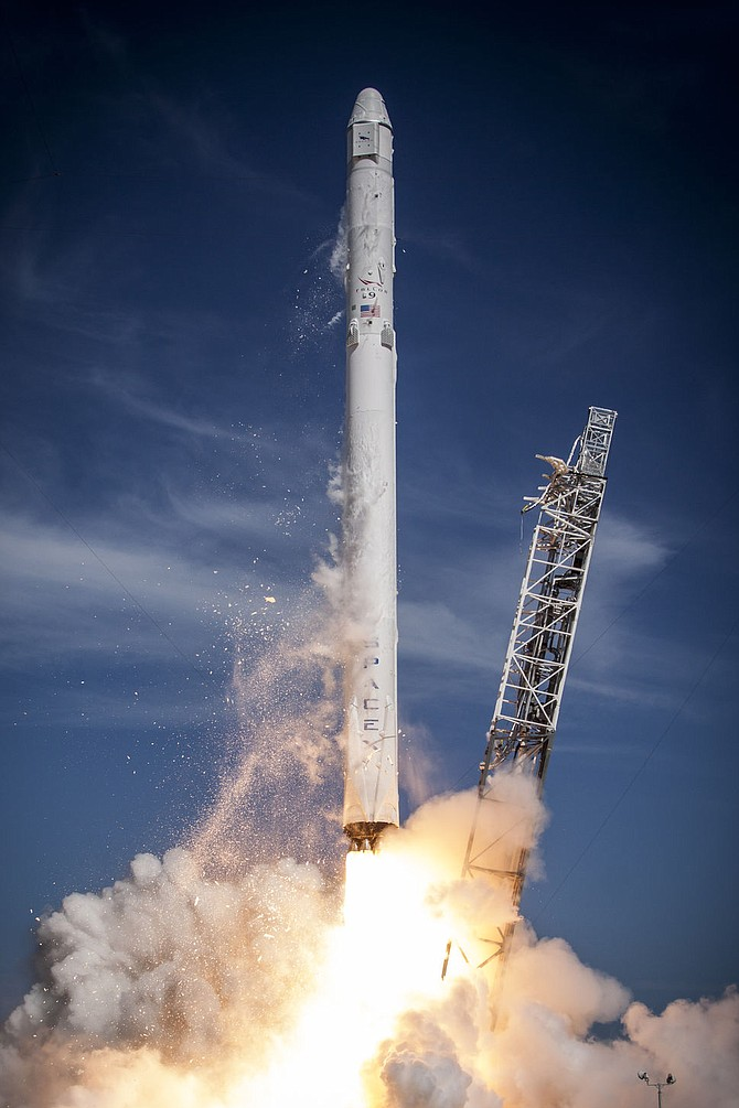 SpaceX rocket launch.