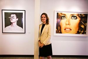 Global Reach: Rebecca Wilson at the Santa Monica office of Saatchi Art.