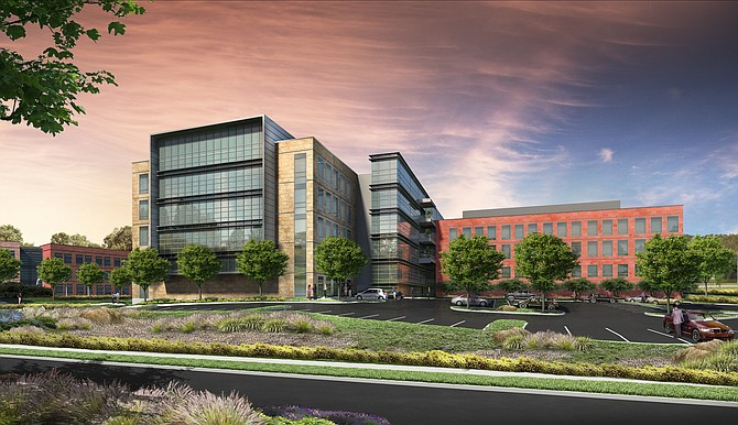 Property owner Alexandria Real Estate Equities is nearing completion on an expansion of tenant Illumina Inc.'s campus at UTC -- Rendering courtesy of Alexandria Real Estate Equities
