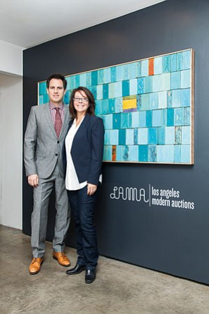 Peter and Shannon Loughrey at Los Angeles Modern Auctions in Van Nuys.