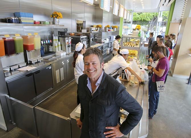 Lemonade Restaurant Group's Ian Olsen at Santa Monica location. Photo by Ringo H.W. Chiu/LABJ