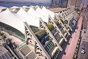 The Sails Pavilion at the San Diego Convention Center will be repaired as part of planned improvements at the waterfront facility. Photo courtesy of San Diego Convention Center Corp.