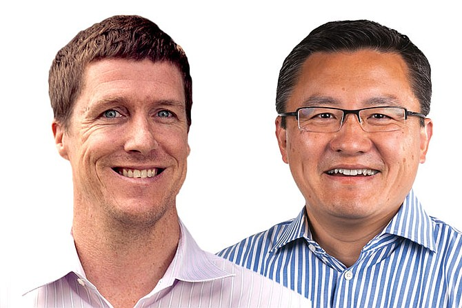 Patrick Eggen (left) and Quinn Li (right)