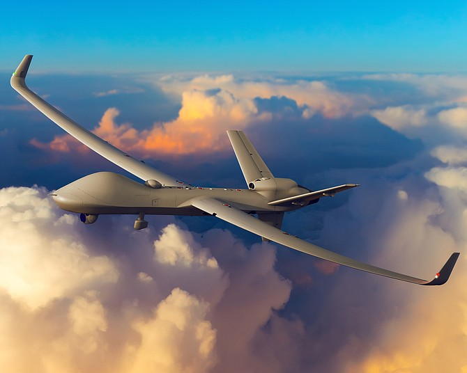 An artist's rendering shows the certifiable Predator B in flight. The Royal Air Force plans to buy 20 of the aircraft for more than $500 million, British media reported - Photo courtesy of General Atomics Aeronautical Systems Inc.