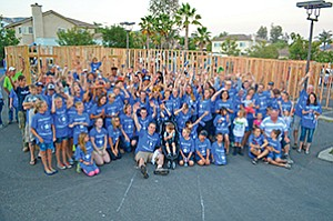 More than 150 people helped build a Habitat for Humanity home as part of a Make-A-Wish gift for a local teen. Photo courtesy of San Diego Habitat for Humanity