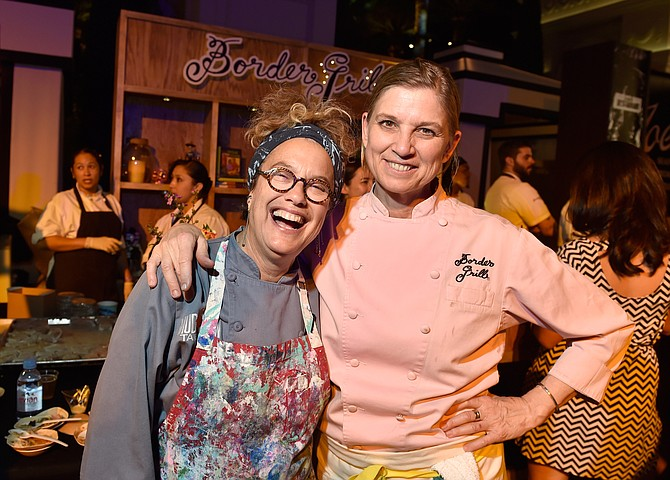 Susan Feniger, left, and Mary Sue Milliken of the Border Grill. Getty Images.