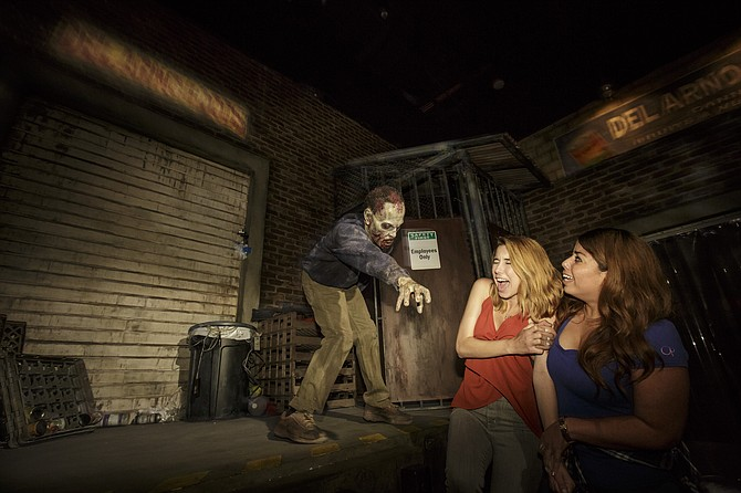 """""""Don't Open, Dead Inside"""" attraction at Universal Studios."""