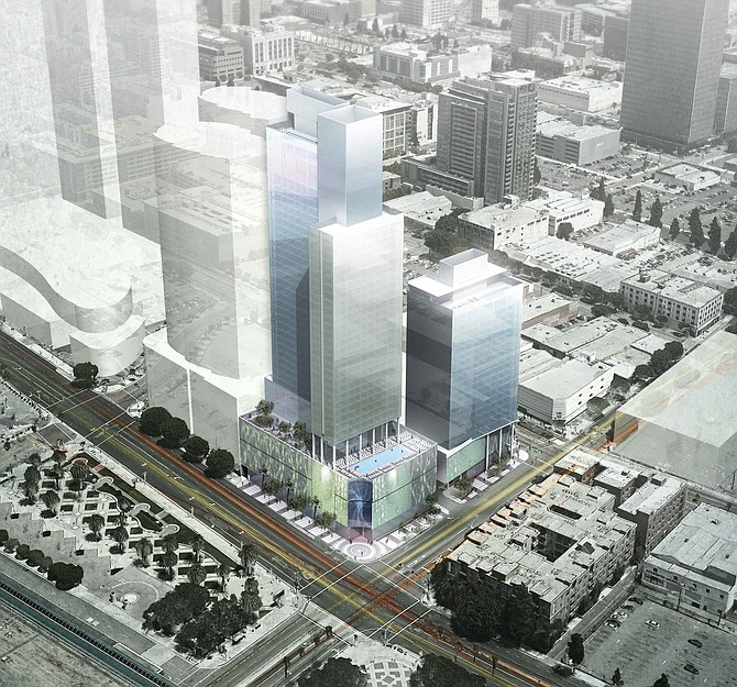 Giant 1,100-room hotel would serve Convention Center attendees.