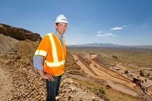 Thomas Clay at Golden Queen mine near Mojave.