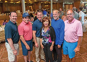 Members of the 2016 Guardians Planning Committee Devin Chodorow, left, Earl Altshuler, Kevin Wunderly, Mary Epsten, Kent Hytken and Robert Haimsohn at an event to benefit Seacrest Village Retirement Communities. Photo courtesy of Seacrest Village Retirement Communities