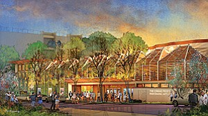 Ongoing projects in the Village of La Jolla include The Conrad, a new $65 million performing arts center being developed by the La Jolla Music Society. Rendering courtesy of La Jolla Music Society
