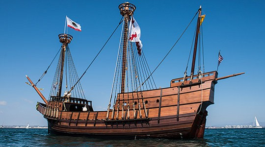 Replica of the San Salvador -- Photo courtesy of San Diego Tourism Authority