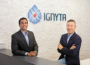 Ignyta executives Jacob Chacko and Jonathan Lim are encouraged by their first stage clinical trial results, and several stock analysts share their optimism.