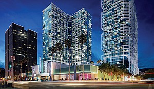 In Cross Hairs: Rendering of Palladium Towers residential complex in Hollywood.