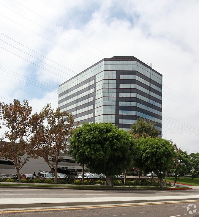 The Sepulveda Center, a shiny blue tower in Palms emblazoned with the TrueCar Inc. logo, has sold to San Francisco-based real estate investment firm Swig Co.
