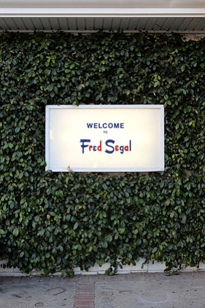 Familiar Name: A Melrose shopping district complex still sports Fred Segal signage.