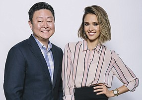 Honest Co. was founded by Brian Lee, Jessica Alba and Christopher Gavigan (not pictured).