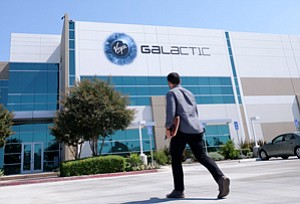 Private-Sector Space Race: Long Beach rocket-building facility of Virgin Galactic, which has a Mojave Desert spaceport.