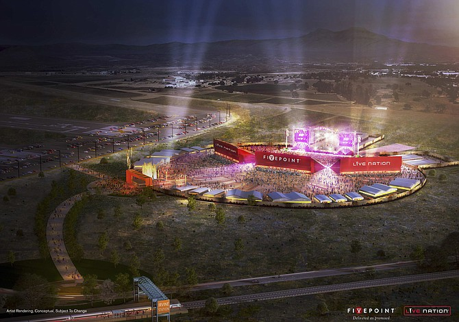 Artist Rendering of FivePoint and Live Nation Interim Amphitheater.