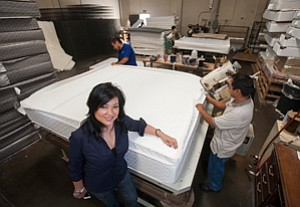 Local Refocus: Tawny Lam at Nova LifeStyle's Commerce facility in a 2012 photo.