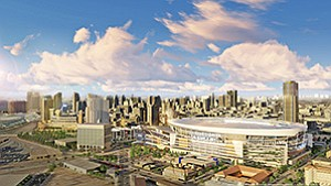 Should voters approve Measure C, San Diego Chargers Chairman Dean Spanos is proposing to host a new diversity-focused accelerator at the downtown facility. Rendering courtesy of San Diego Chargers