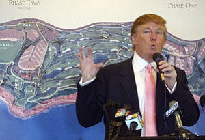Teeing Off: Donald Trump at golf course's groundbreaking in January 2005.