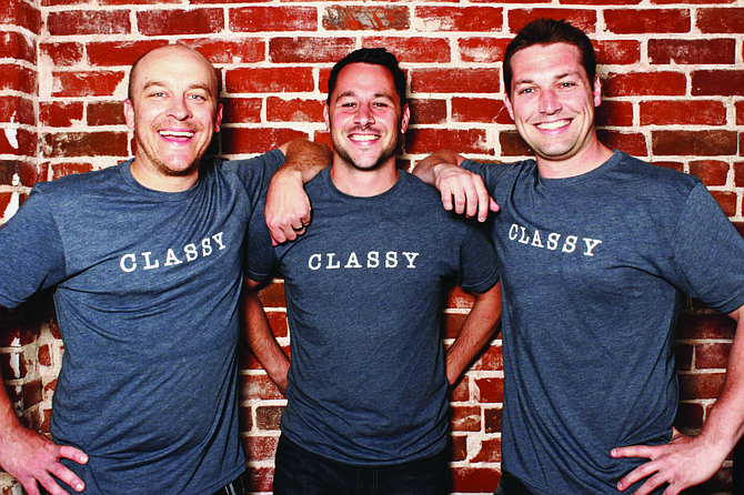 Classy co-founders Marshall Peden, Scot Chisholm and Pat Walsh. Photo courtesy of Classy