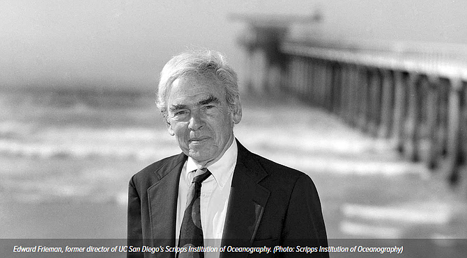 Scripps Institution of Oceanography Director Edward A. Frieman - Photo courtesy of UC San Diego