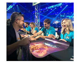 Blizzard game developers sign autographs