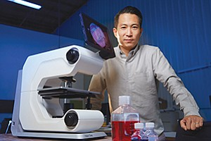 Investors are keen on Eugene Cho's hybrid microscope.
