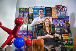 Rolling Dice on Digital: Brian and Hillary Hersch of Hersch Games in Century City.