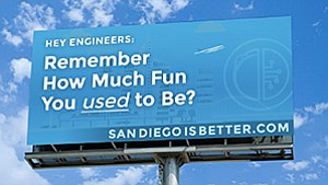 A digital billboard will be placed on U.S. Highway 101 and University Avenue in Palo Alto, one of the busiest freeways in Silicon Valley, with messages meant to lure frustrated tech workers to San Diego. Photo courtesy of San Diego Venture Group