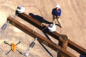 Using drones to inspect power lines will save time and money, say San Diego Gas & Electric officials. Photo courtesy of San Diego Gas & Electric Co.