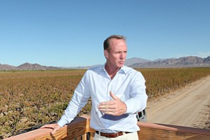 CEO Scott Slater on Cadiz's desert aquifer property in 2012.