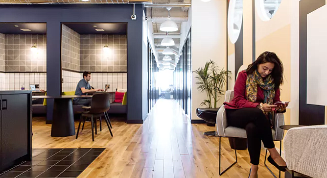 San Diego Venture Group's Silicon Valley satellite office will be located in WeWork's California St. location, tucked between Union Square and the Financial District. Photo courtesy of WeWork.