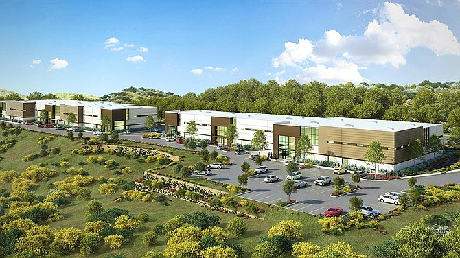 A planned two-building industrial campus in Vista -- Rendering courtesy of Badiee Development Inc.