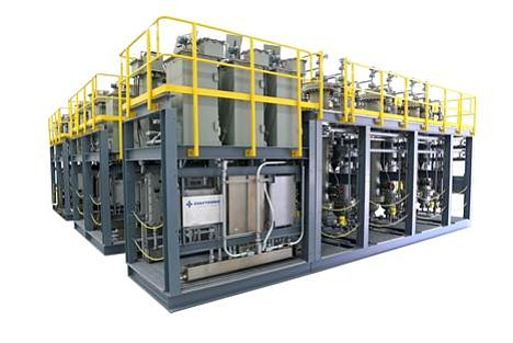 General Atomics has a contract to supply a Gulftronic electrostatic separator system, like the one pictured, to an oil refinery in South Korea - Photo courtesy of General Atomics Electromagnetic Systems