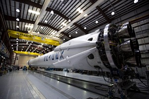 Counting Down: SpaceX Falcon 9 rocket.
